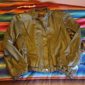 RAD 80's Vintage Green Leather Jacket